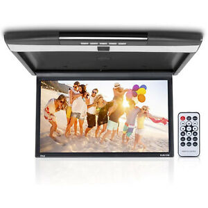 "Pyle PLRV1725 Flip Down Car Roof Mounted 17.3"" Screen HD 1080p Multimedia Player"