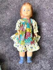ANTIQUE ANCIENT DOLL. PAPER MACHE. HAND PAINTED. EARLY 20th CENTURY