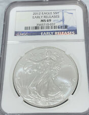 2012 American Eagle Silver Dollar $1 NGC MS69 Early Releases - Gem - 3657710-037