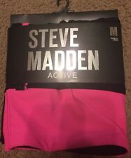 Womens Steve Madden Active Leggings - Size M - Black w/ Neon Pink Accents