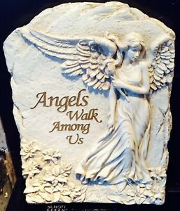 Latex mould With Fibreglass Case for making this lovely Angel plaque