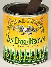 General Finishes Water Based Glaze Effects Van Dyke Brown Quart, New, Free Shipp
