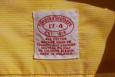 "Brooks Brothers 17/34 Gentleman's Vintage Gold LS ""Original Polo"" Dress Shirt"