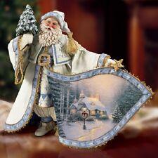 Frosty Christmas Eve Kinkades Santa  Figurine Bradford Exchange - Thomas Kinkade