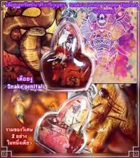 Magic Thai Snake Amulet LP Ajarn O Bring Fortune Wealth Lucky Gambling Talisman