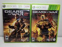 Gears Of War 2 + Judgement (Xbox 360 VG) Video Games Lot