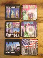 New York Untersetzer Getränke Coaster Foto Auflage 6 Stück Bar Kneipe