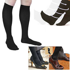 Anti-fatigue Compression Socks Miracle Men Women Black Travel Varicose Veins DVT