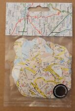 """Vintage Recycled Paper 2"""" Heart Confetti - Map And Atlas"""
