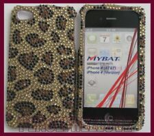 Gold Leopard Bling Rhinestone Case Cover iPhone 4 4G
