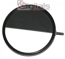 62mm Half Frame Lens Filter Attachment Double Exposure Two picture 1 Frame Trick