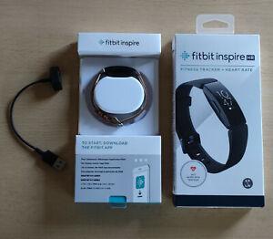 Fitbit Inspire HR Fitness Tracker m. Heart Rate, OVP,  m. Echtleder-Armband