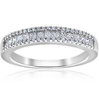 1/2ct Diamond Princess Cut Wedding Ring 10k White Gold