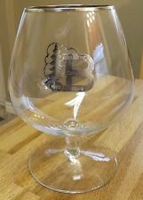1952 Burlington Curling Club Crystal Brandy Snifter with Silver Overlay