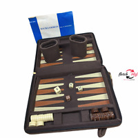 Compact Travel Magnetic Backgammon with Carrying Strap w/Instructions Booklet