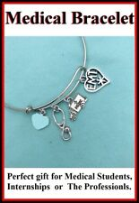 Handcrafted EMT Charms Stunning Bangle.