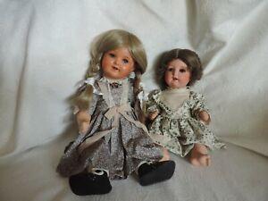 Zwei alte Puppen von König und Wernicke 45 und 37 cm