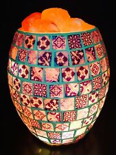 Glass Jar Salt Lamp - Porcelain Mosaic