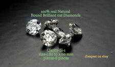 REAL 100% NATURAL Loose 6 Round diamond Clarity SI-1 Color-G-H Colour