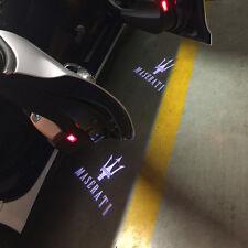 2 LED Door Light Projector White Logo Emblem HD For MASERATI Quattroporte Ghibli