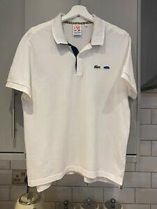 Lacoste Live Cool Cats Limited Edition Polo Size 6 White Rare