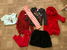 Girls 6x 6t Clothing Lot Red Dress Outfit Pants