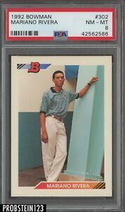 1992 Bowman #302 Mariano Rivera Yankees RC Rookie PSA 9 MINT