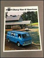 1969 Chevrolet Chevy Van and Sportvan Original Vintage Sales Brochure Catalog
