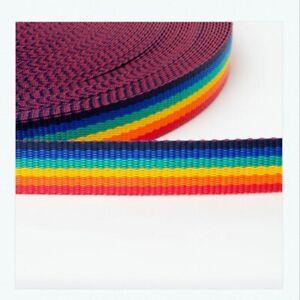Polypropylene webbing PRIDE/RAINBOW Design PREMIUM QUALITY