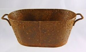 NEW Town Square Miniatures Dollhouse Miniature Oval Rusty Wash Tub 1:12 EIWF579