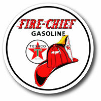 TEXACO FIRE CHIEF GASOLINE SUPER HIGH GLOSS OUTDOOR 12 INCH DECAL STICKER