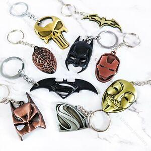 CLEARANCE!!! Superhero Keyring Birthday Keychain Key Ring Key Chain Fathers Day