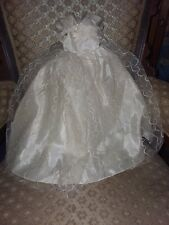 "Vintage Taffeta Gown with Netting for 1950's Doll 21"" Long"