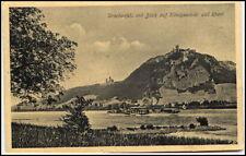 KÖNIGSWINTER am Rhein ~1910/20 Rhein Schiff Dampfer passiert Burg Drachenfels