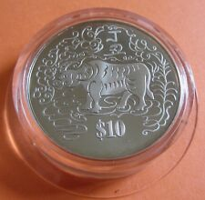 Singapore 1997 Year of Ox $10 proof-like in case