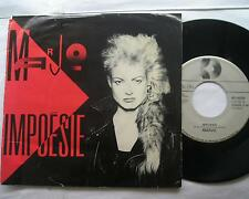 *MARJO (CORBEAU) Impoesie P/S CANADA QUEBEC FRENCH  ROCK 1986 Vinyl Pic sleeve