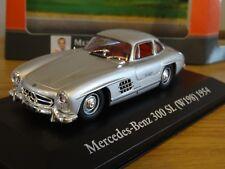 ATLAS EDITIONS MERCEDES BENZ 300 SL W198 1954 SILVER CAR MODEL HM01 1:43