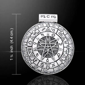 OBERON ZELL MAGICK CIRCLE  Sterling silver  PENDANT - by Peter Stone. Alchemy