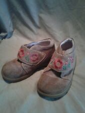 Girl's Stride Rite Suede Ankle Boot  Brown Size 8m