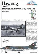 MATTERHORN CIRCLE 32019 HAWKER HUNTER MK. 58 – EARLY DECALS MC32019