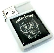 MOTORHEAD England Electric Cigarette Grey Black Refillable Gas Lighter Rock