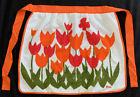Vintage MCM Never Worn Vera Neumann Tulips Apron Still Has Paper Macy's Tag 60s