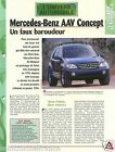 4X4 Mercedes-Benz AAV Concept SUV Germany USA Prototype Car Auto FICHE FRANCE