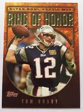 2004 Topps Ring Of Honor Tom Brady Insert Patriots G.O.A.T Super Bowl XXXVIII $$