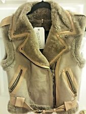 NWT Genuine Shearling + Leather Vest, Large (Smaller!) by Culture Vintage Eureka