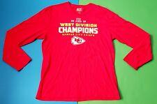 2018 Afc West Division Champions Kansas City Chiefs Football Nfl Shirt Sz L Long