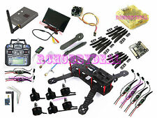 FPV 5.8G TX RX Full Set Carbon Fiber Mini 250mm Quadcopter FS-i6 + Crash Pack