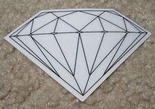 DIAMOND SUPPLY CO Logo Skate Sticker Rock Fine BLACK skateboards helmets decal