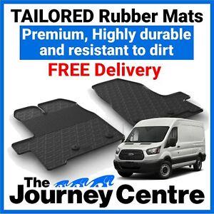Ford Transit MK8 2014 on - Tailored Front Rubber Floor Mats Premium Van Mats
