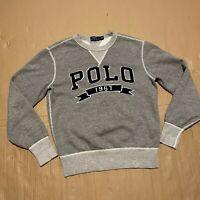 Men's Grey Polo Ralph Lauren Crewneck Sweatshirt w/ embroidered logo Size S